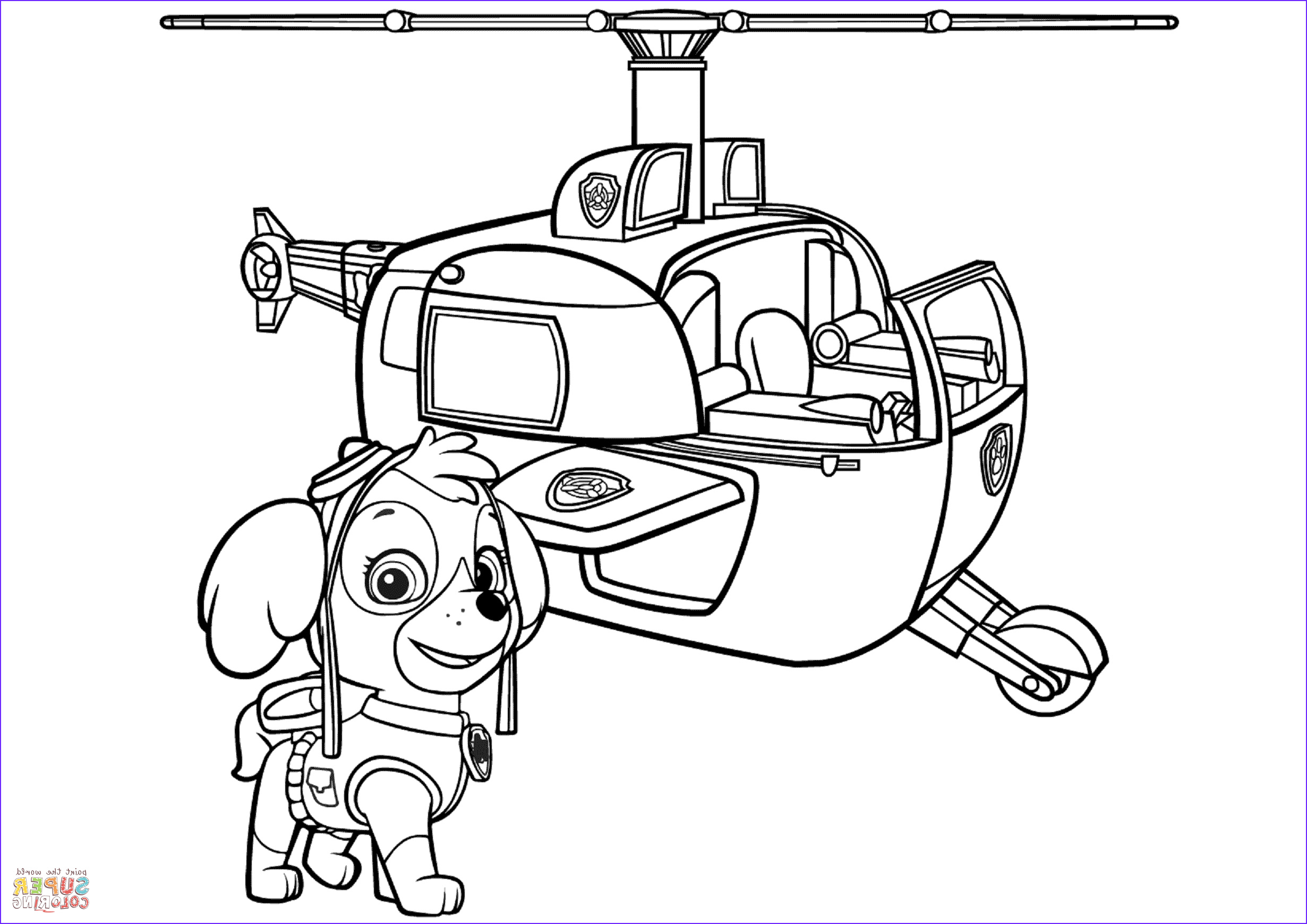 paw patrol skyes helicopter