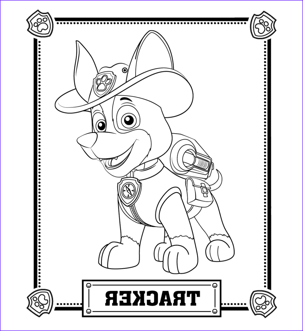 Paw Patrol Coloring Books Cool Image Paw Patrol Tracker Coloring Pages Trevon