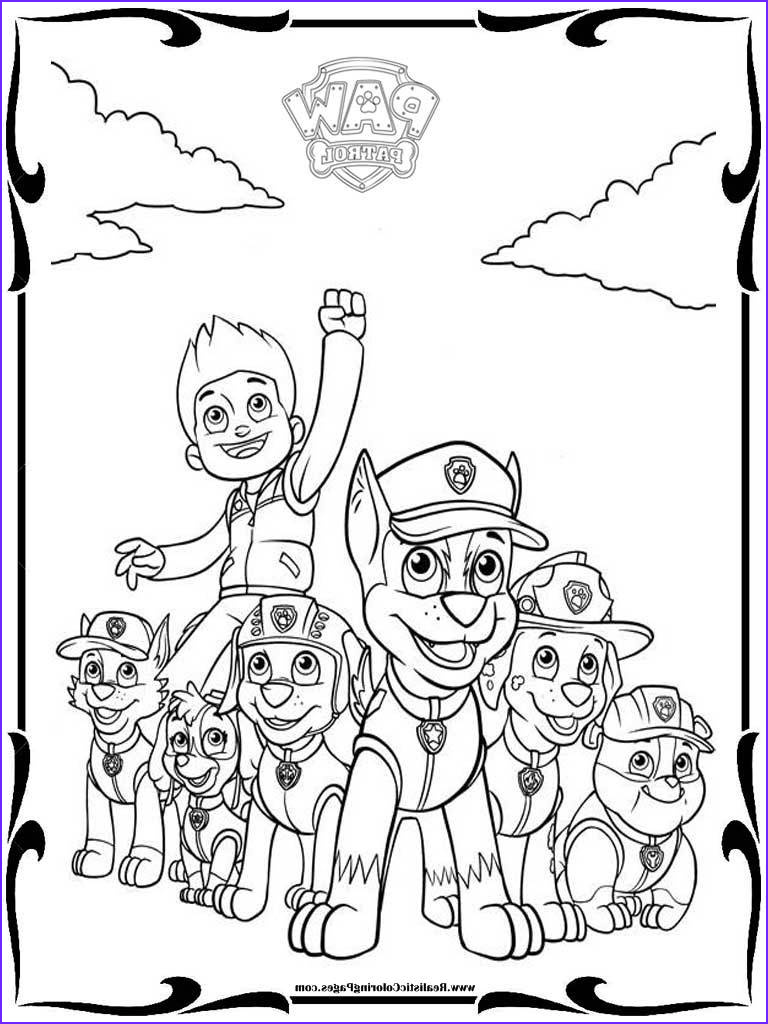 paw patrol characters coloring pages