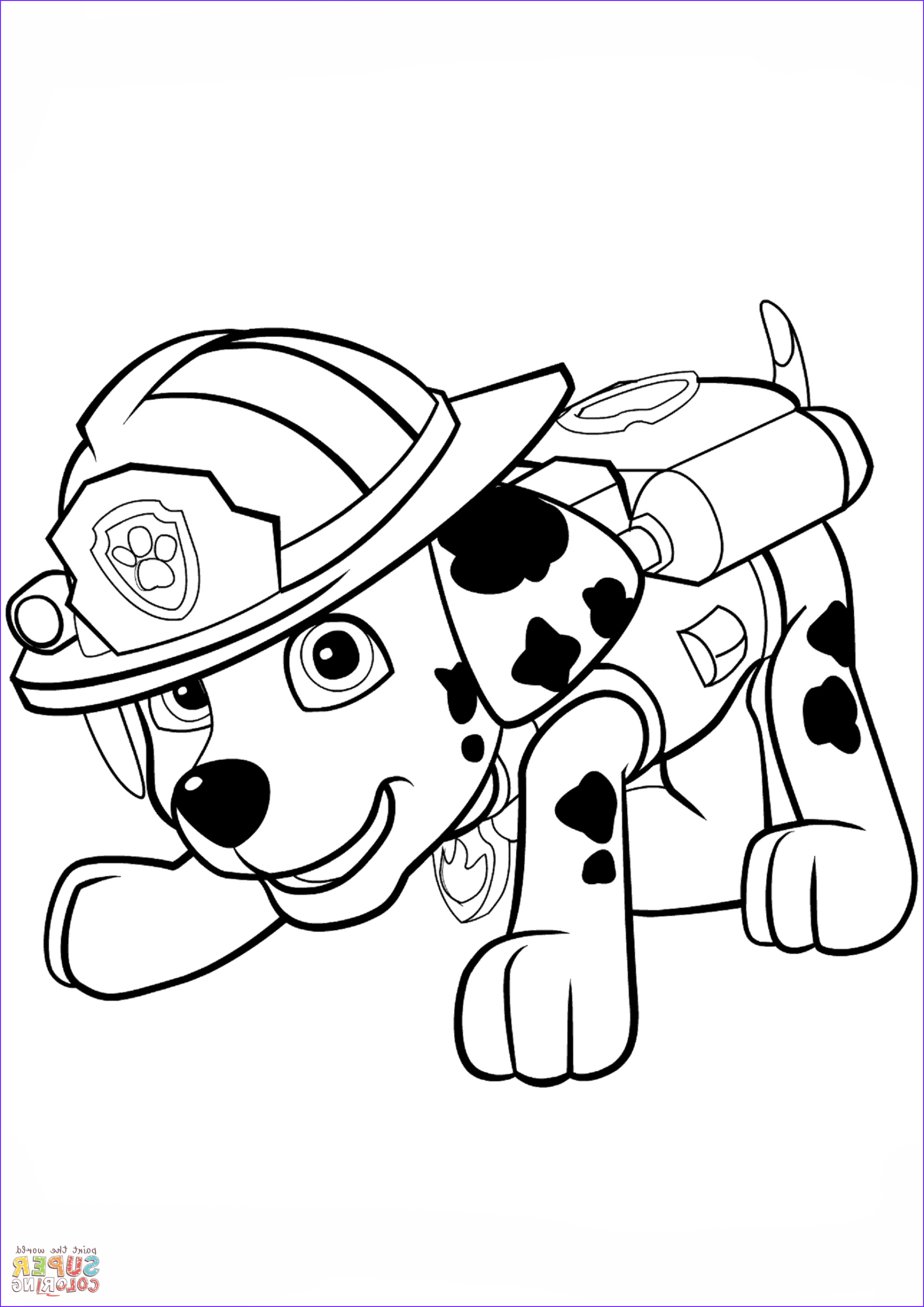 Paw Patrol Coloring Books Unique Gallery Paw Patrol Marshall Puppy Coloring Page