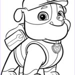 Paw Patrol Coloring Page Best Of Collection Paw Patrol Rubble Coloring Page