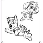 Paw Patrol Coloring Page Unique Photos Chase Paw Patrol Coloring Pages To And Print For Free