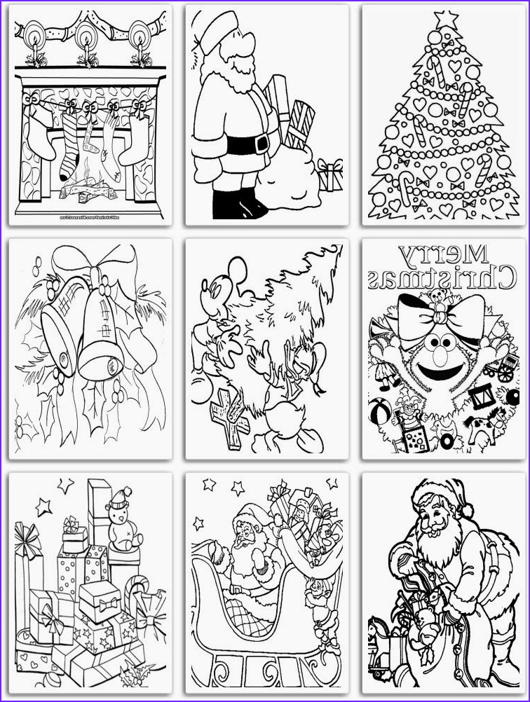 pdf coloring pages of christmas