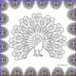 Peacock Coloring Beautiful Collection Printable Peacock Coloring Pages For Kids