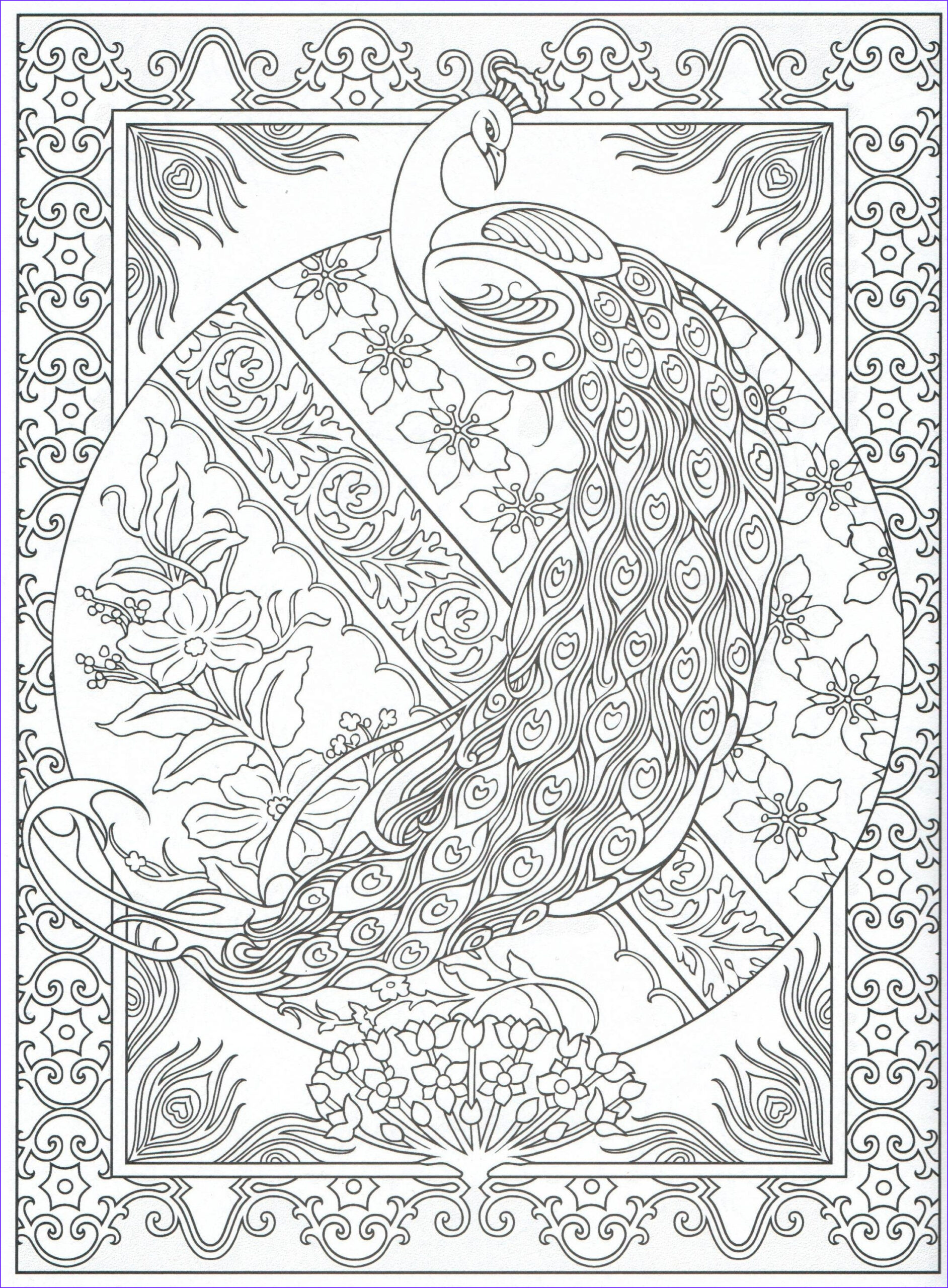 Peacock Coloring Book Awesome Images Peacock Coloring Page for Adults 2 31