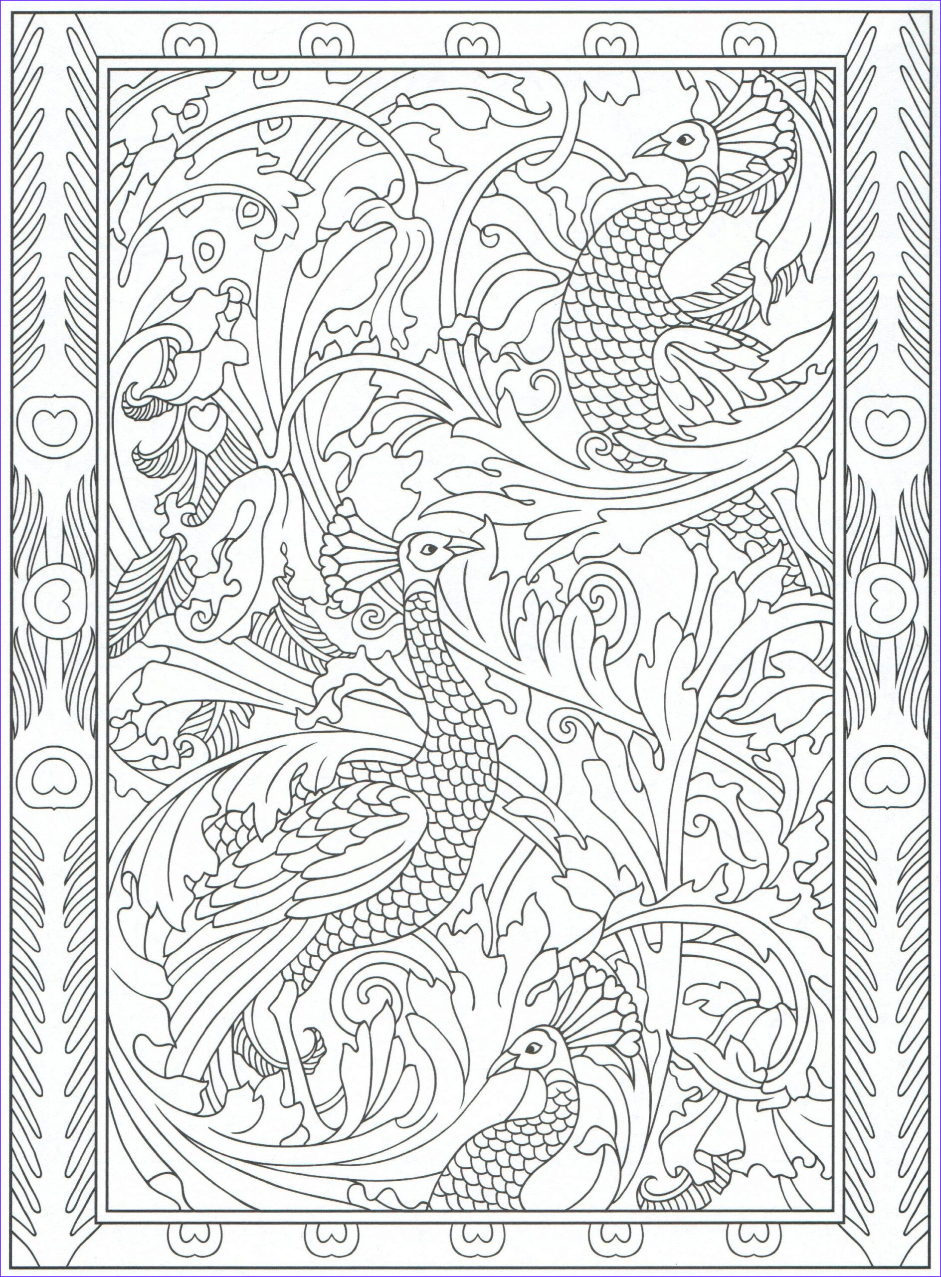 Peacock Coloring Book Beautiful Image Peacock Coloring Page for Adults 5 31