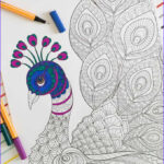 Peacock Coloring Book Beautiful Photos Free Adult Coloring Page Peacock Easy Crafts 101