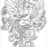 Peacock Coloring Book Beautiful Photos Peacock In Flowers Coloring Page