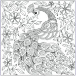 Peacock Coloring Book Elegant Gallery Peacock Among The Flowers Peacocks Adult Coloring Pages