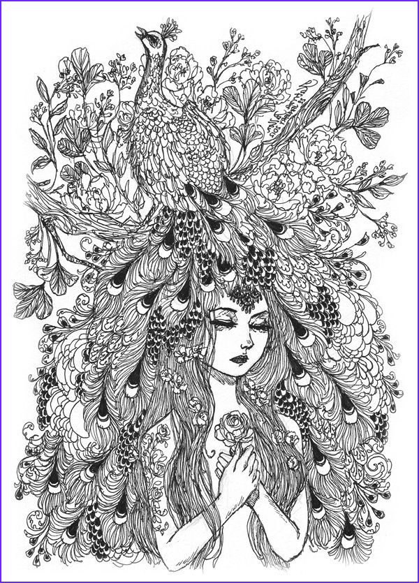 Peacock Coloring Book Elegant Image 17 Best Images About Coloring Pages On Pinterest