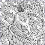 Peacock Coloring Book New Image Elegant Peacock And Its Blue Feathers Peacocks Adult