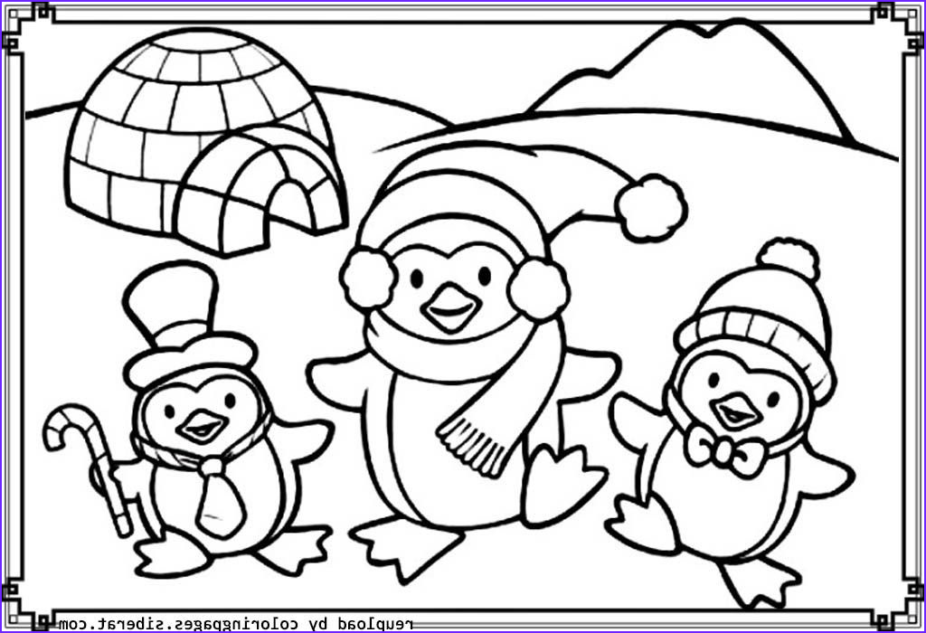 christmas penguin coloring pages printable
