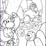 Penguin Coloring Sheet Beautiful Stock Free Printable Puffle Coloring Pages For Kids