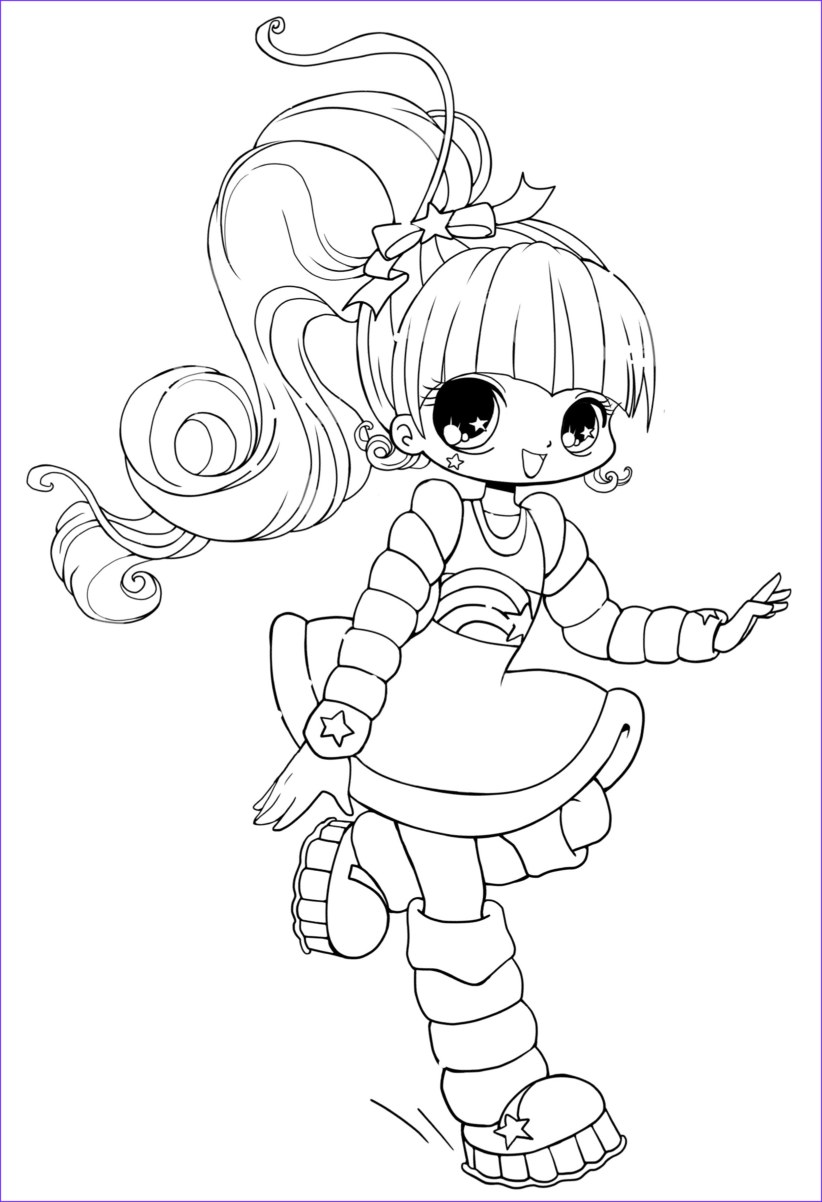 People Coloring Cool Image Free Printable Chibi Coloring Pages for Kids