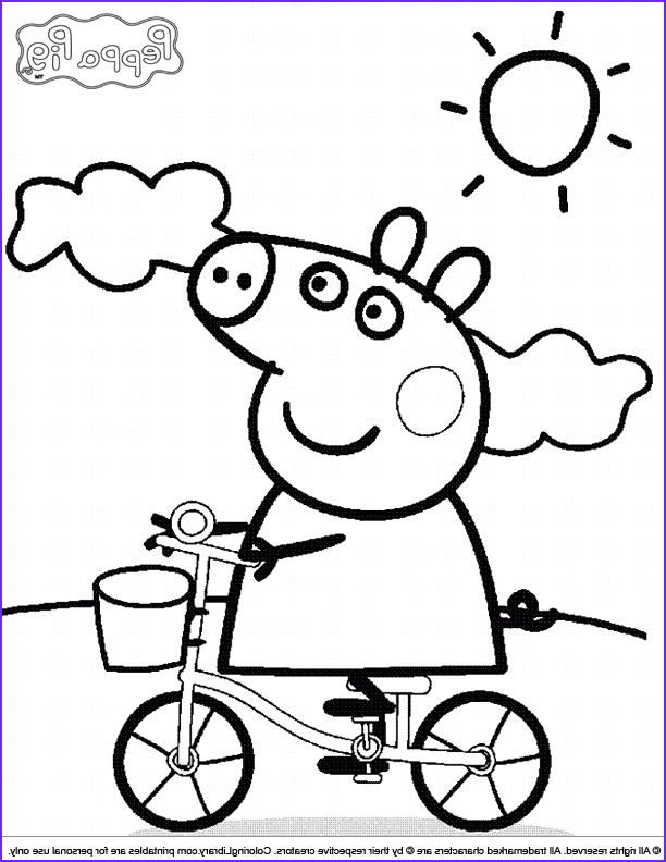 Peppa Pig Coloring Book Awesome Image Coloring Picture Free Coloring