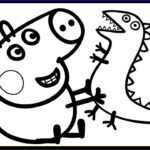 Peppa Pig Coloring Book Beautiful Photography George Pig And His Dinosaur Peppa Pig Coloring Book Pages