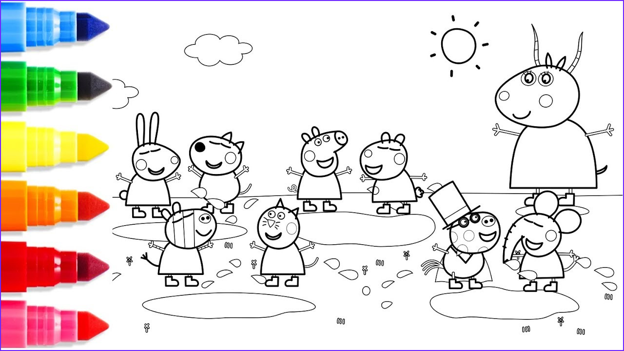 Peppa Pig Coloring Book Inspirational Image Big Family Peppa Pig Coloring Pages Fun Learn Colors for