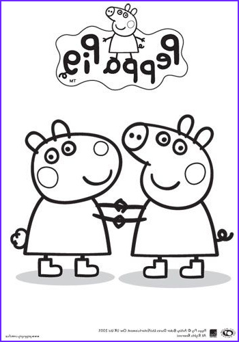 Peppa Pig Coloring Book Luxury Photos Peppa Pig and Friends Colouring In Printable