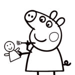 Peppa Pig Coloring Book New Image Peppa Pig Coloring Pages To Print For Free And Color
