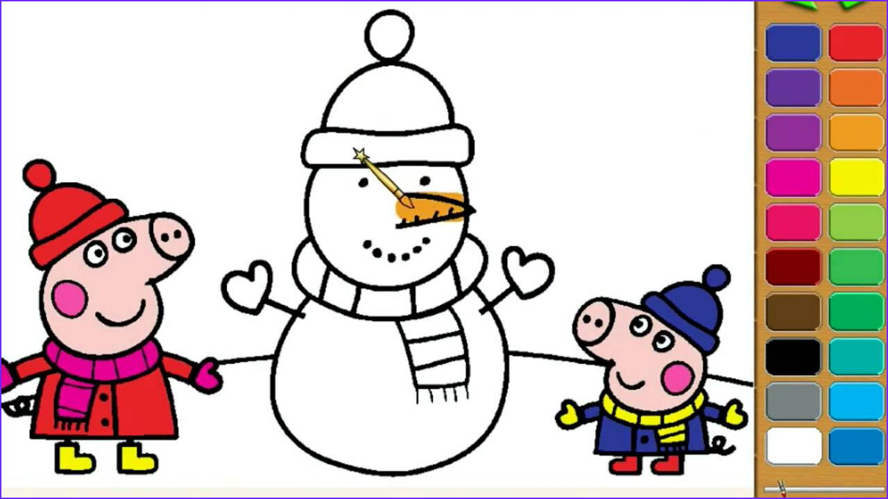 Peppa Pig Coloring Book New Photography Peppa Pig Coloring Pages for Kids Peppa Pig Christmas
