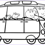 Peppa Pig Coloring Pages Beautiful Photos Peppa Pig Family In New Car Coloring Book Coloring Pages