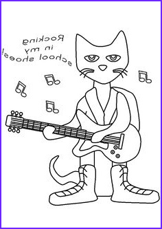 Pete the Cat Coloring Awesome Photos Pete the Cat Rocking In My School Shoes Coloring Page