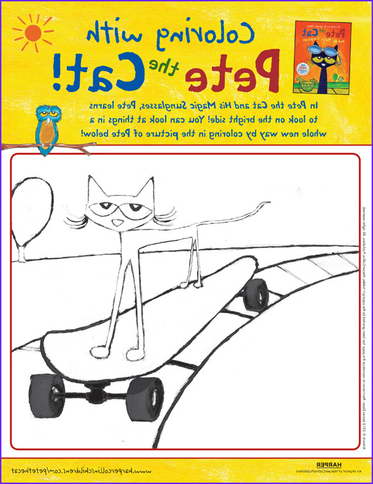 pete the cat and his magic sunglasses coloring