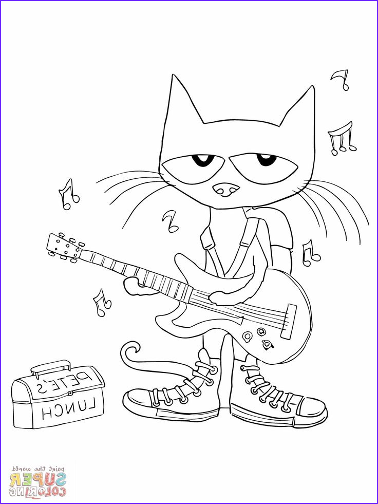 Pete the Cat Coloring New Image Pin by Kim Ferrel On Preschool