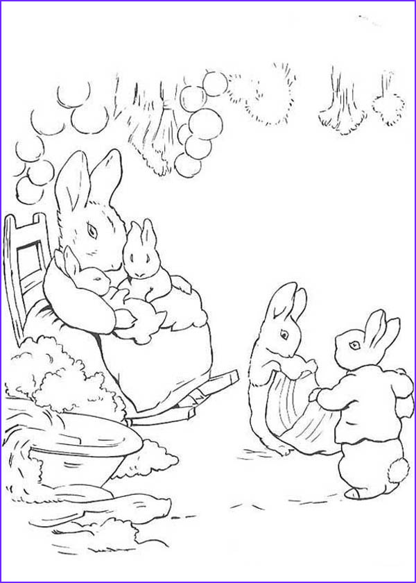 Peter Rabbit Coloring Pages Beautiful Image Peter Rabbit Mother Taking Care His Sister Coloring