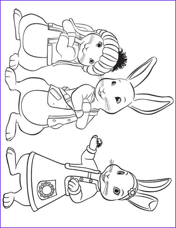 Peter Rabbit Coloring Pages Inspirational Stock Lily Peter and Benjamin to Print Crafts