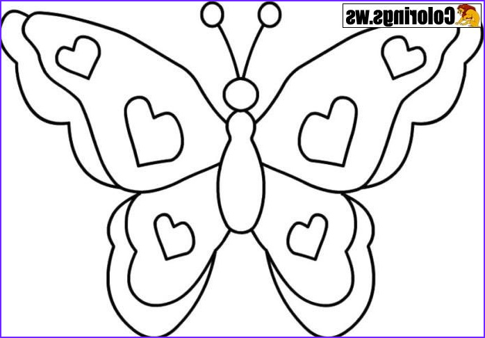 Photo To Coloring Page Cool Photos Simple Butterfly Coloring Page For Teenagers