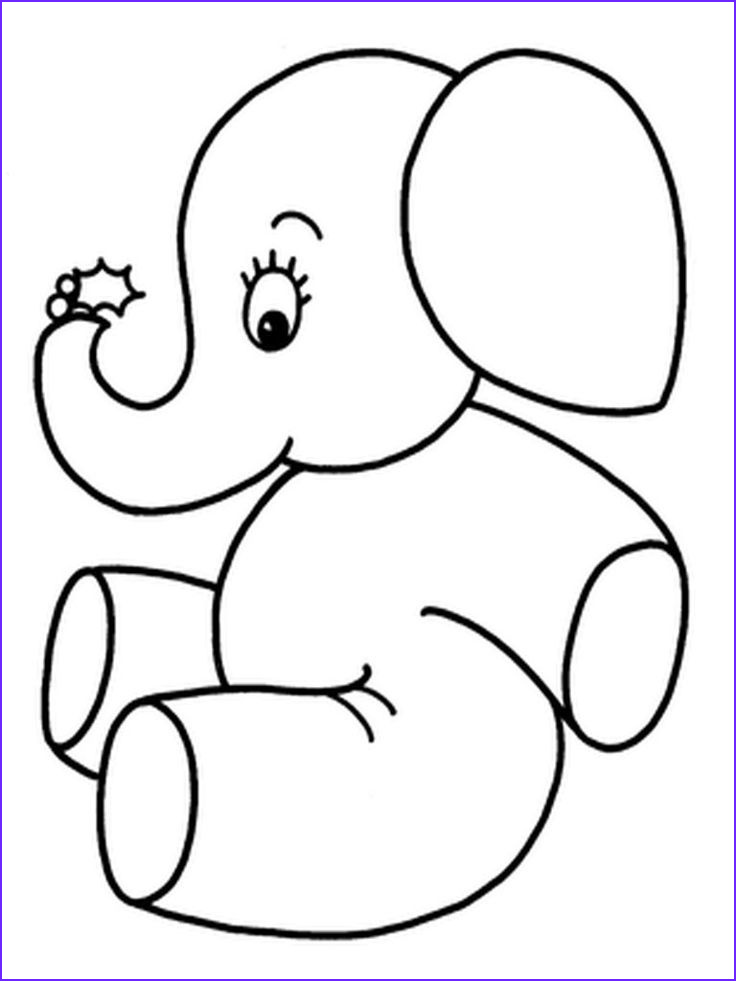 Photo To Coloring Page Cool Stock Baby Elephant Coloring Pages Realistic