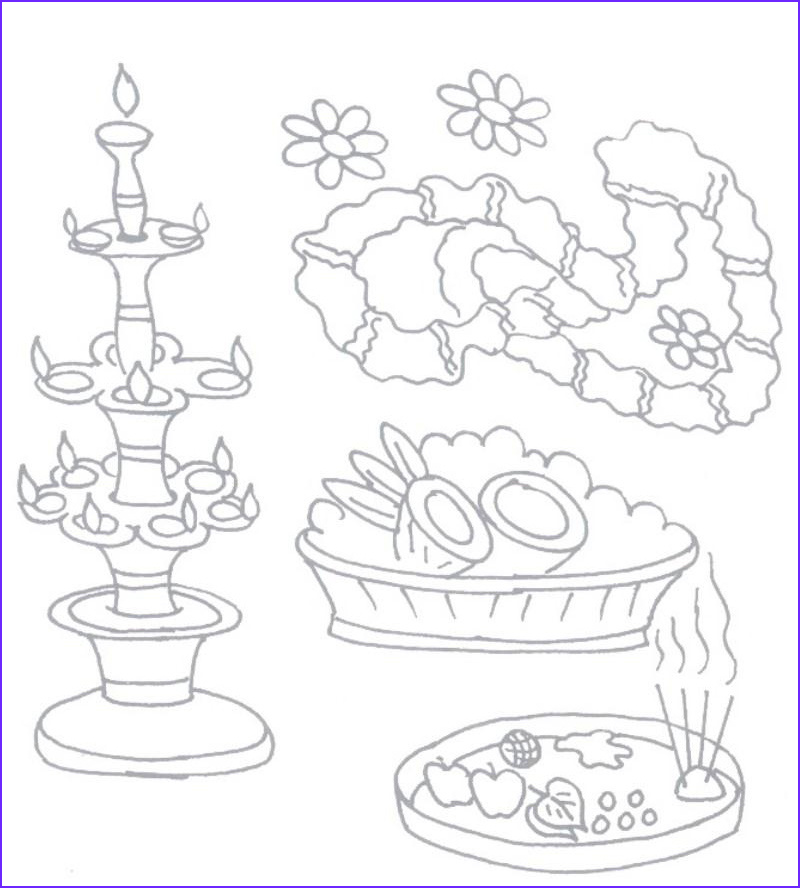 navratri coloring pages