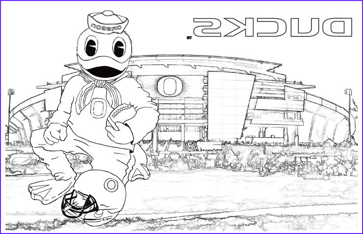 Photo To Coloring Page New Photos Download The Oregon Ducks Puddles At Autzen Coloring Page