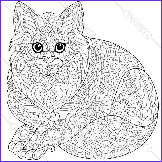 cat kitten coloring page for national