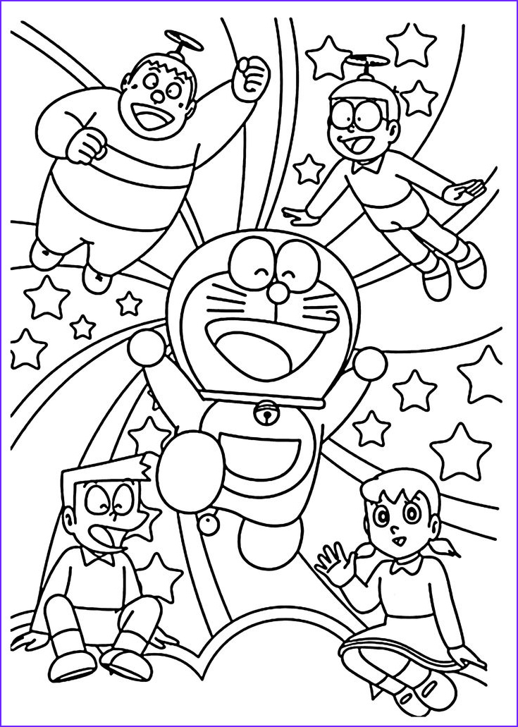 Pinterest Coloring Pages Luxury Stock Doraemon and Friends Coloring Pages for Kids Printable