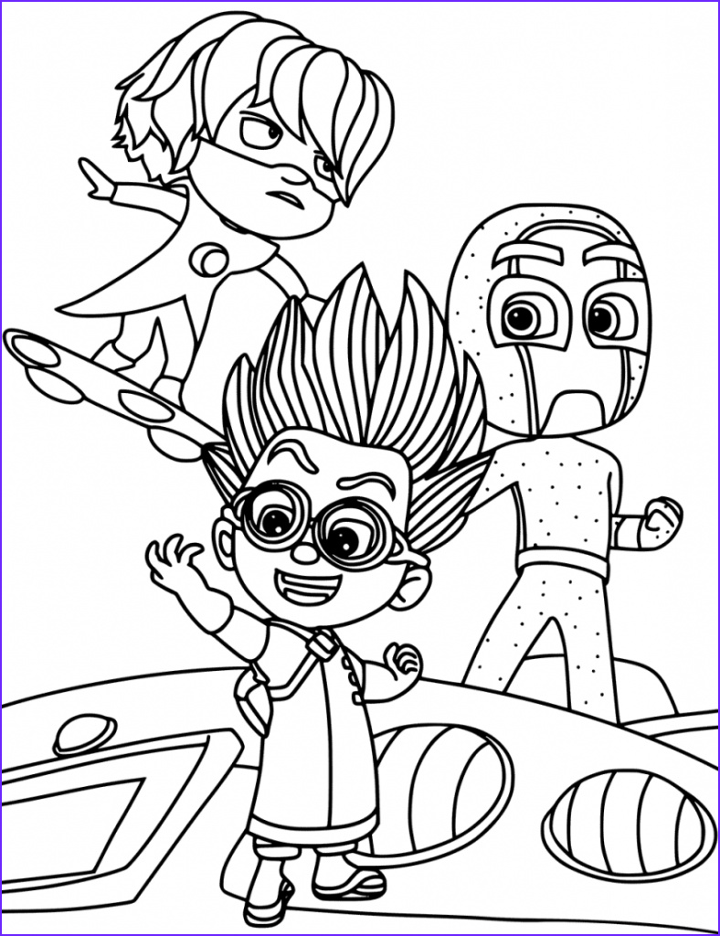 Pj Masks Coloring Awesome Photos Pj Masks Coloring Pages Best Coloring Pages for Kids