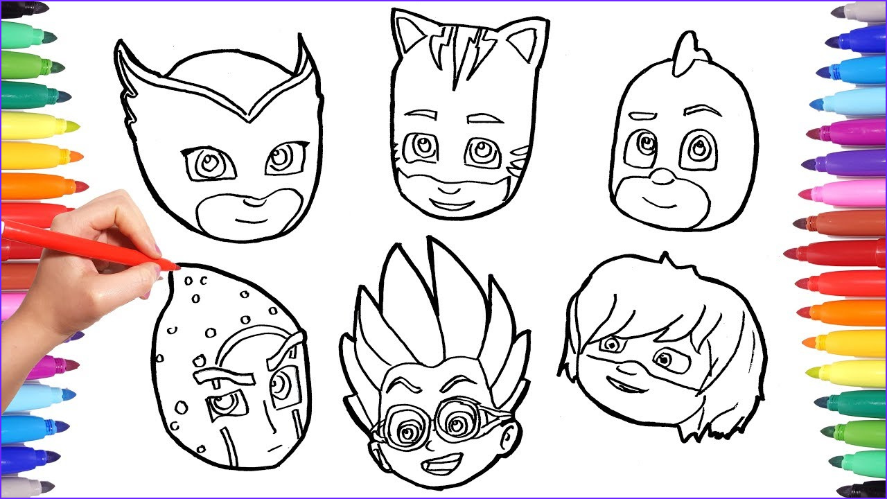 Pj Masks Coloring Beautiful Image How to Draw All Pj Masks Faces Pj Masks Characters