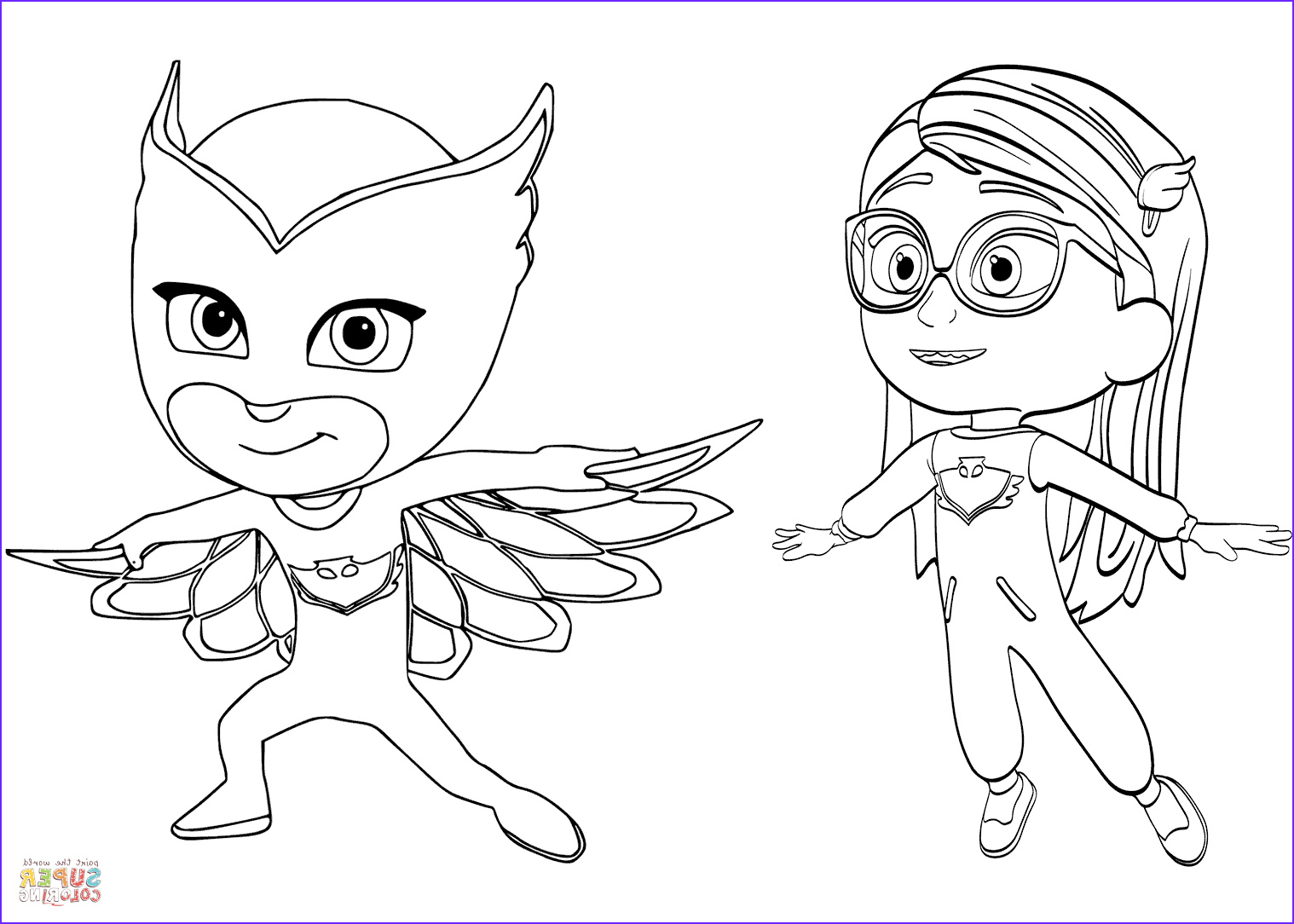 Pj Masks Coloring Elegant Photography Pajama Hero Amaya is Owlette From Pj Masks Coloring Page