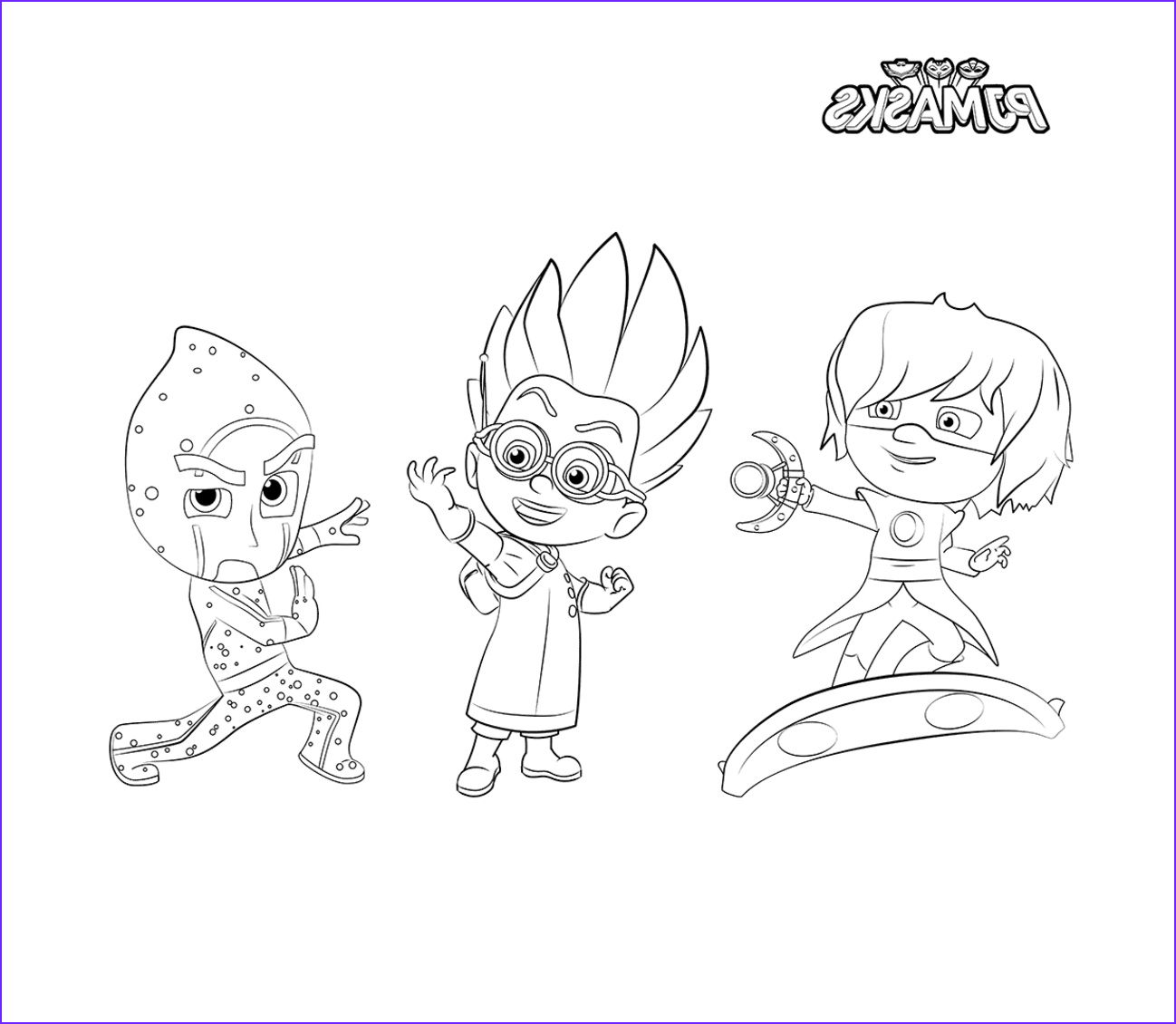 Pj Masks Coloring Inspirational Stock Pj Masks Coloring Pages to and Print for Free