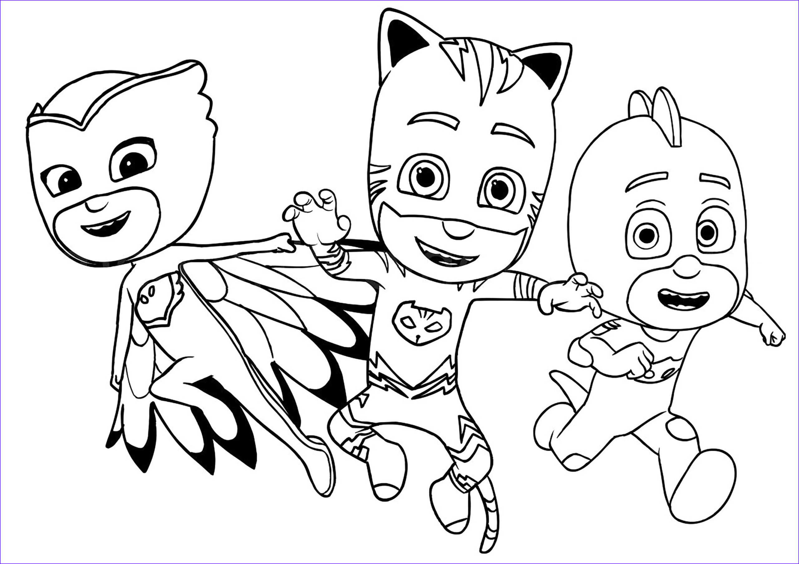 Pj Masks Coloring Page Inspirational Gallery Free Pj Masks Coloring Page to From the Gallery
