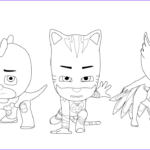 Pj Masks Coloring Pages Beautiful Gallery Pj Masks Coloring Pages To And Print For Free