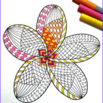 Plumeria Coloring Awesome Gallery Plumeria Pdf Zentangle Coloring Page