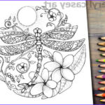 Plumeria Coloring Luxury Photos Printable Coloring Page Dragonfly Moon & Plumeria Flower
