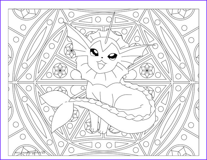Pokemon Adult Coloring Book New Photos Adult Pokemon Coloring Page Vaporeon