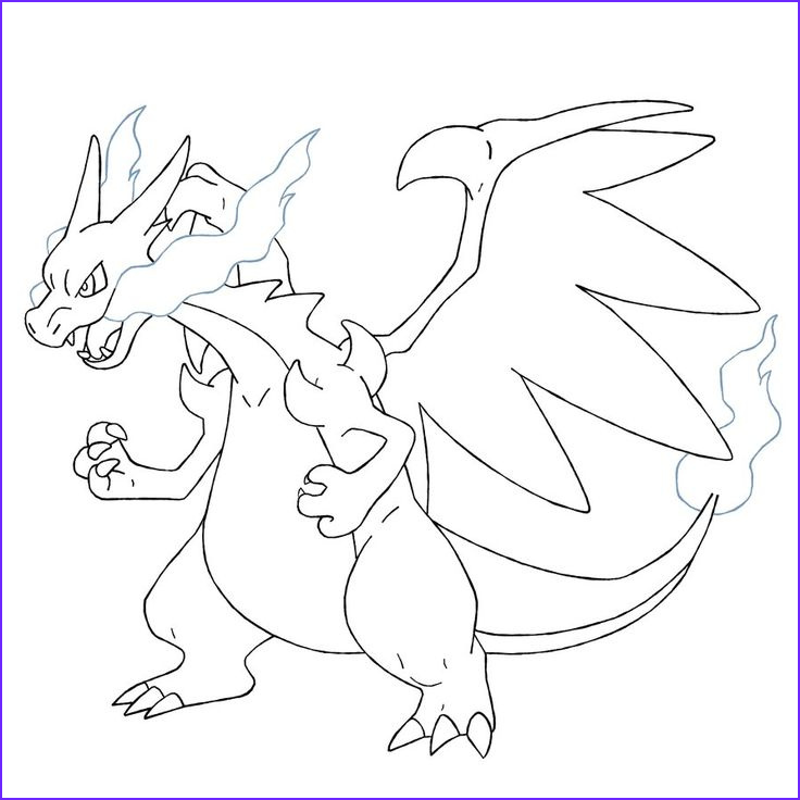 Pokemon Coloring Pages Charizard New Photos Mega Charizard X Coloring Pages