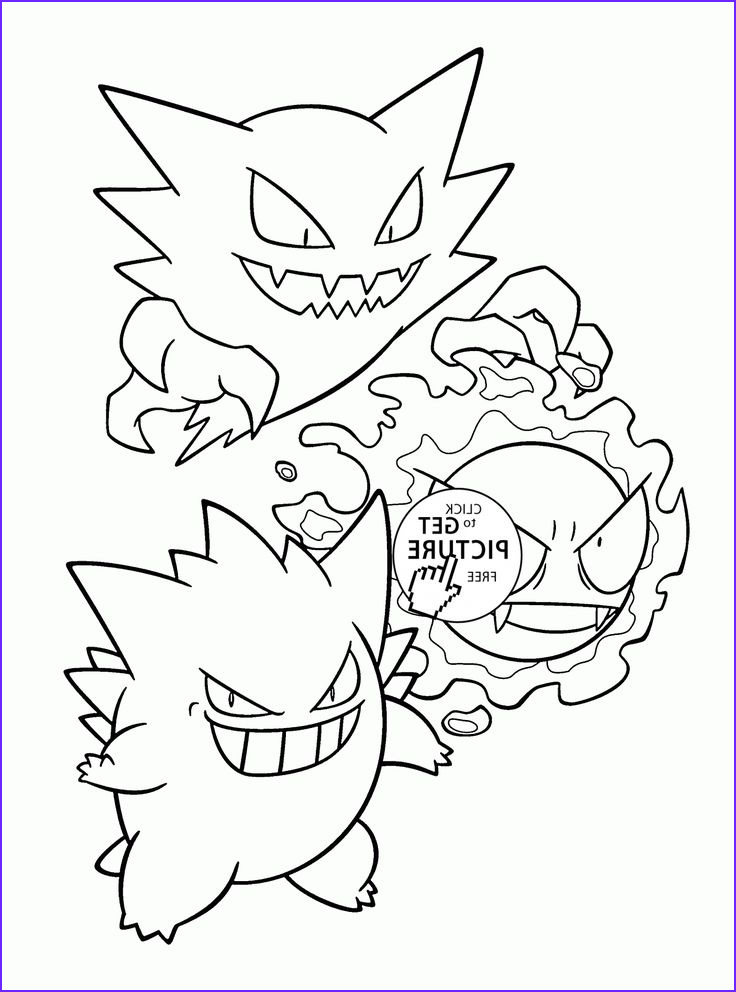 Pokemon Coloring Sheets Beautiful Photos Pokemon Gastly Evolution Coloring Pages for Kids Pokemon