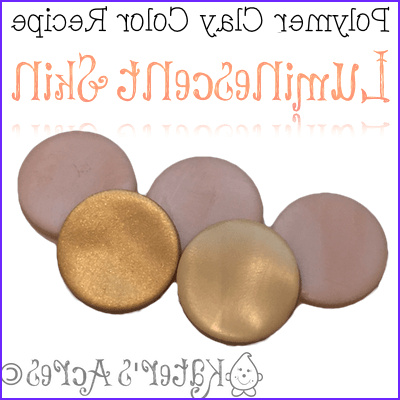 polymer clay color recipe luminescent skin