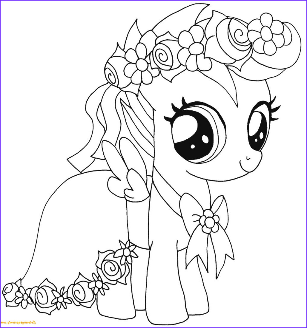 Ponies Coloring Beautiful Collection My Little Pony Scootaloo Coloring Page Free Coloring