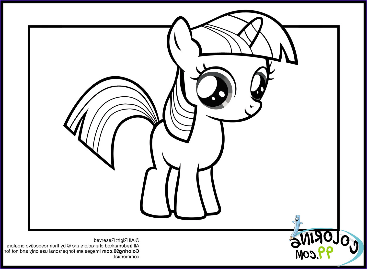 Ponies Coloring Beautiful Photography My Little Pony Twilight Sparkle Coloring Pages